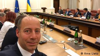 Арне Лиц на встрече в Киеве с представителями украинских властей