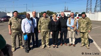 Депутаты Европарламента во время посещения Донбасса, сентябрь 2018 года