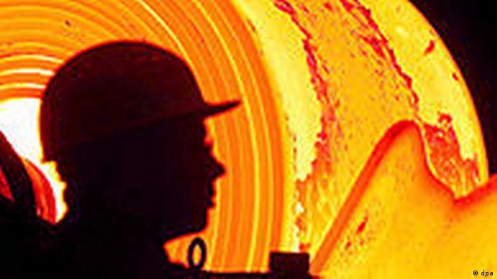 Symbolbild Stahl Stahlindustrie ThyssenKrupp (dpa)