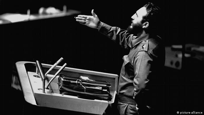 Fidel Castro spricht bei der UN 1960 (picture-alliance)