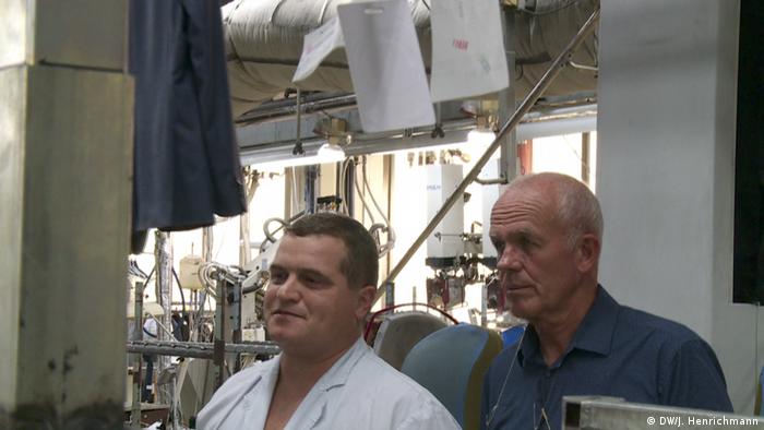 Poduzetnik Bertram Rollmann u tekstilnoj tvornici