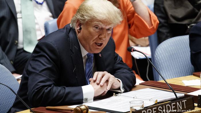 Präsident Donald Trump nimmt an einem Sicherheitsrat der Vereinten Nationen teil (picture-alliance/E.Vucci)