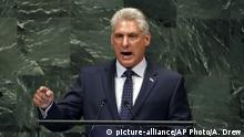 USA Miguel Díaz-Canel Bermudez spricht vor der UN-Generalversammlung