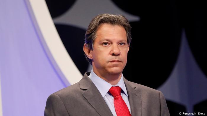 O candidato do PT à Presidência, Fernando Haddad