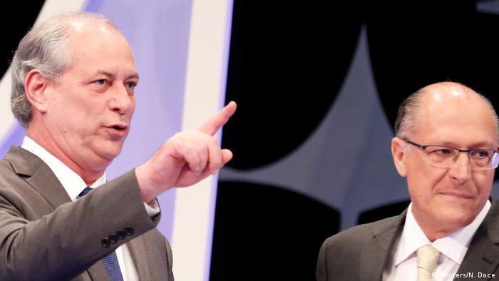 Cirgo Gomes y Geraldo Alckmin.