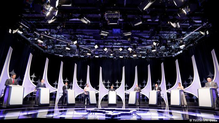 Debate da Folha de São de Paulo, UOL e SBT reuniu oito candidatos à Presidência