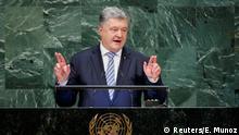 Ukrainischer Präsident Poroschenko bei UN-Vollversammlung