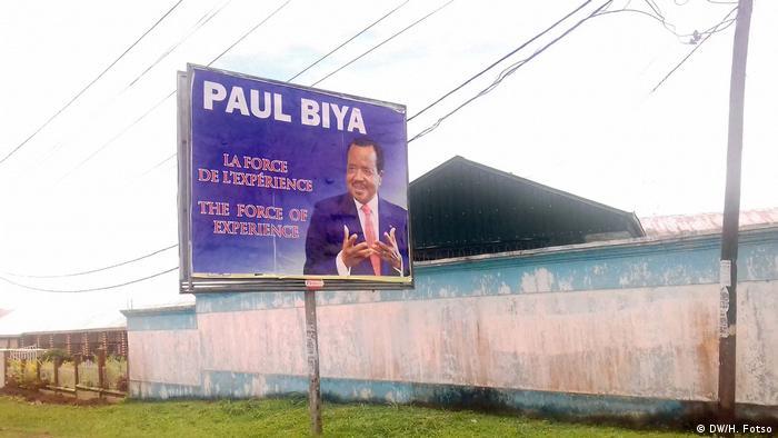 Campaign poster of Paul Biya