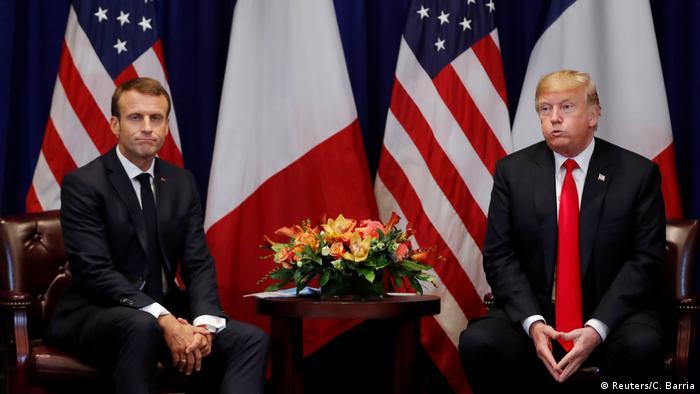 گفتوگوی امانوئل مکرون و دونالد ترامپ (عکس آرشیوی است)