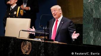 BG Trump allein zu Hause bei der UNO