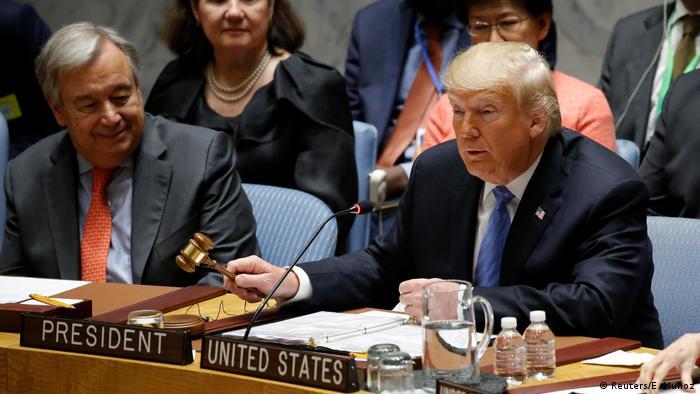 BG Trump allein zu Hause bei der UNO (Reuters/E. Munoz)