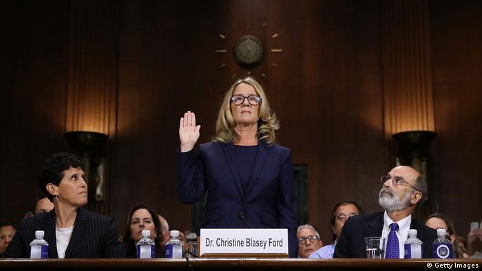 USA US-Richterkandidat Brett Kavanaugh - Aussage von Christine Blasey Ford