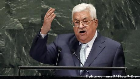 Mahmoud Abbas Rede vor der UN Generalversammlung (picture-alliance/AP Photo/R. Drew)