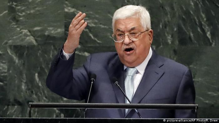 Mahmoud Abbas Rede vor der UN Generalversammlung (picture-alliance/AP Photo/R. Drew)