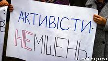 Demonstration in Kiew wegen vielreicher Fälle von Angriffen gegen Aktivisten in der Ukraine