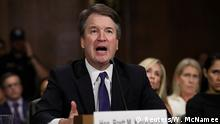 27.09.2018+++ Supreme court nominee Brett Kavanaugh testifies before the Senate Judiciary Committee on Capitol Hill in Washington, U.S., September 27, 2018. Win McNamee/Pool via REUTERS