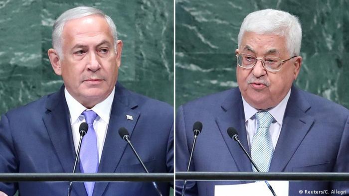 محمود عباس- بنيامين نتنياهو
