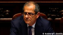 FILE PHOTO: Italian Economy Minister Giovanni Tria in the lower house of parliament in Rome, Italy, June 6, 2018. REUTERS/Tony Gentile/File Photo