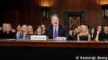 U.S. Supreme Court nominee Brett Kavanaugh testifies before a Senate Judiciary Committee confirmation hearing for Kavanaugh on Capitol Hill in Washington, U.S., September 27, 2018. REUTERS/Jim Bourg