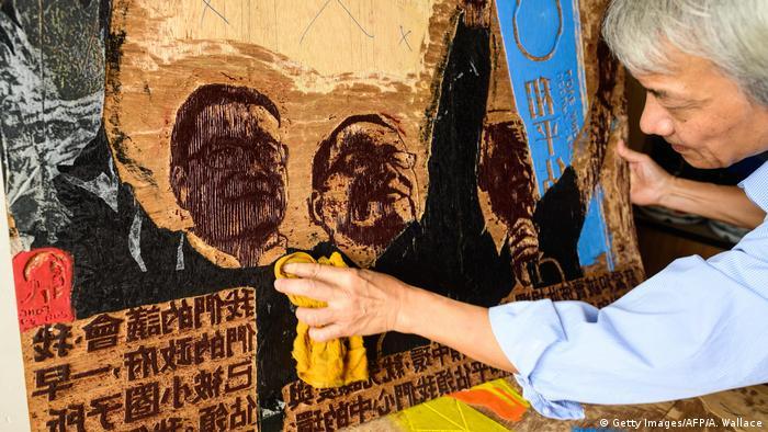 Hongkong 4 Jahre nach Regenschirm-Revolution | Künstler Fong So (Getty Images/AFP/A. Wallace)