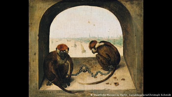 Two chained monkeys (Staatliche Museen zu Berlin, Gemäldegalerie/Christoph Schmidt)
