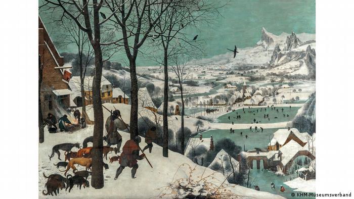 Охотники на снегу, Питер Брейгель Старший, 1565