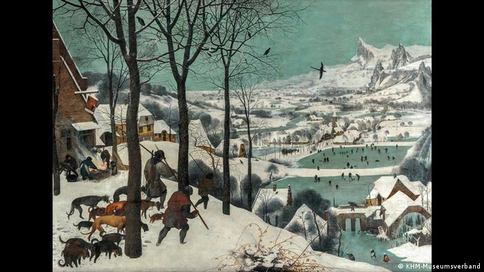 Pieter Bruegel's The Hunters in the Snow was the first winter depiction to appear in European art history
