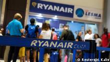 Spanien Ryanair Streik & Protest | Passagiere in Valencia