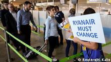 Spanien Ryanair Streik & Protest | Mitarbeiter in Valencia