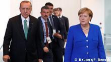 Deutschland Recep Tayyip Erdogan, Präsident Türkei & Angela Merkel, Bundeskanzlerin