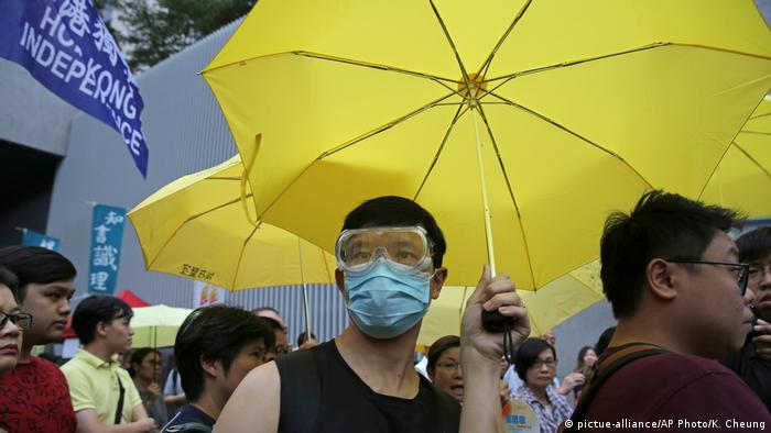 4. Jahrestag der Umbrella Movement Hong Kong 2018 (pictue-alliance/AP Photo/K. Cheung)