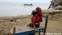 More than 4,000 people of Naria Upazila in Shariatpur have become homeless due to the erosion on the Padma River in recent days. These pictures are of Padma erosion. Copyright: Bdnews24.com