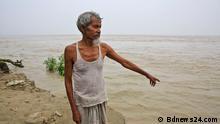 Bangladesch Fluss Padma Ufer Erosionen