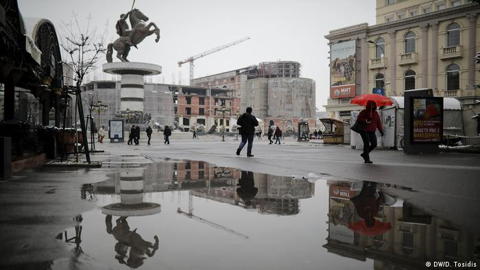 Main square of Skopje with Alexander the Great statue (DW/D. Tosidis)
