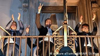 Правительство Италии на балконе