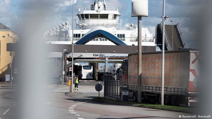 The ferry service was cancelled at Helsingoer due to a police operation in Denmark (Reuters/K. Navntoft)