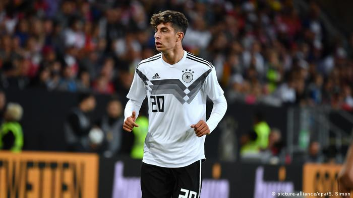 Kai Havertz is considered Germany's brightest young talent (picture-alliance/dpa/S. Simon)