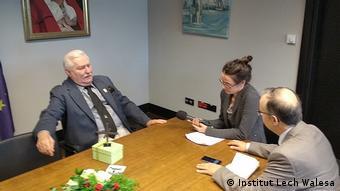 Polen | DW Interview mit Lech Walesa (Institut Lech Walesa)