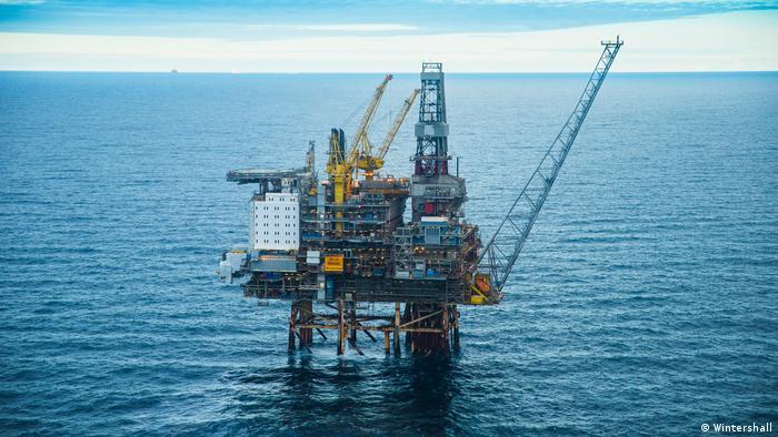 Нефтяная платформа Brage компании Wintershall в норвежской части Северного моря