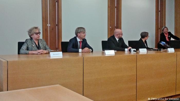 Prof. Małgorzata Gersdorf na konferencji prasowej Sieci Prezesów Sądów Najwyższych UE