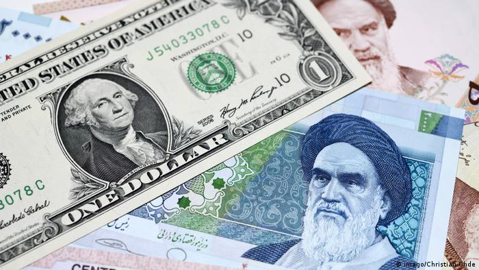 Iranian rial and US dollars