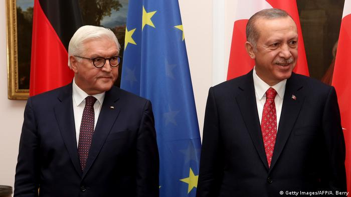 German President Steinmeier and Turkish President Erdogan