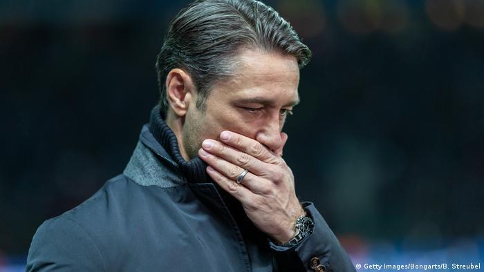 Fußball Bundesliga l Hertha BSC Berlin vs Bayern München 2:0 l Trainer Nico Kovac (Getty Images/Bongarts/B. Streubel)