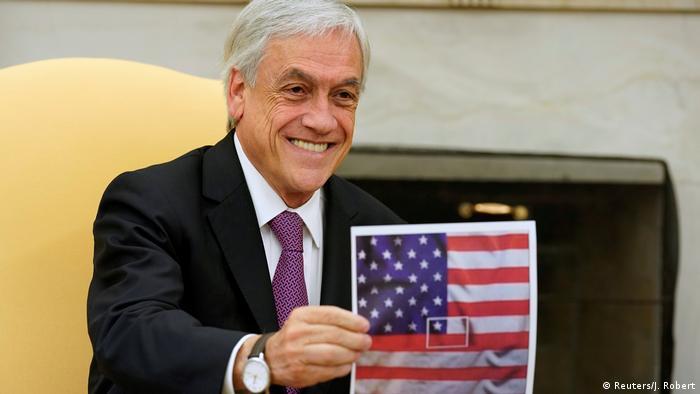 USAl Präsident Trump empfängt den Chilenischen Präsidenten Pinera (Reuters/J. Robert)