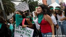Mexiko - Demonstration gegen Abtreibungsverbot