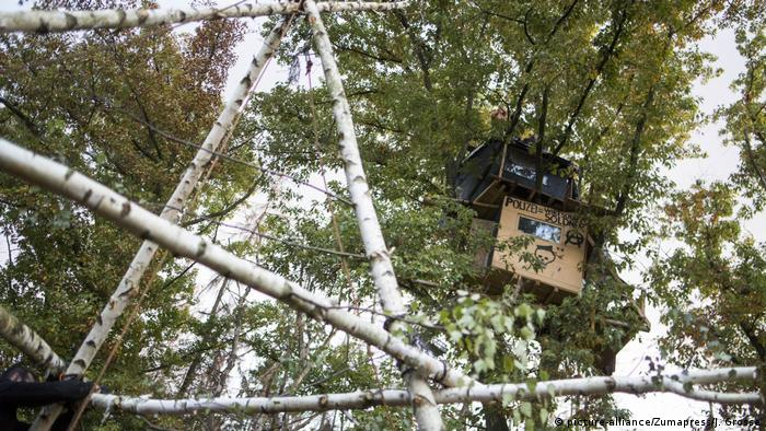 The activists' treehouses in Hambach Forest have been removed