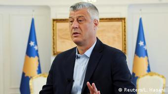 Kosovo Präsident Hashim Thaci | ARCHIV (Reuters/L. Hasani)