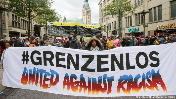 Deutschland Anti-Rassismus-Demo United against Racism in Hamburg