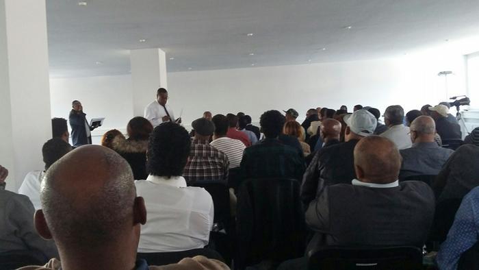 Deutschland Diskussion im äthiopischen Konsulat in Frankfurt mit Abiy Ahmed