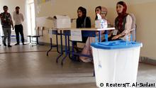 30.09.2018 Kurdish employees are seen at a polling station, during parliamentary elections in the semi-autonomous region in Erbil, Iraq September 30, 2018. REUTERS/Thaier Al-Sudani